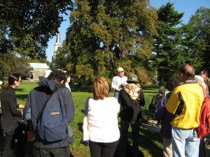Dennis Aita & group at Woodlawn Cemetery